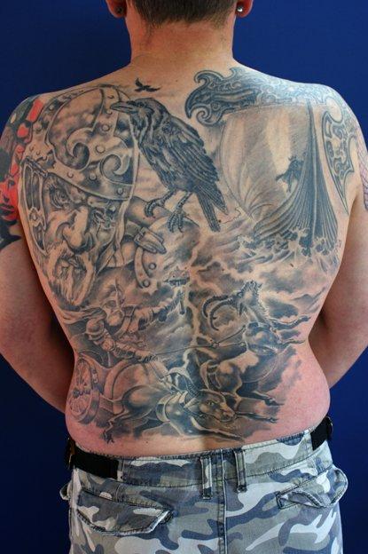 Wikinger Backpiece Odin